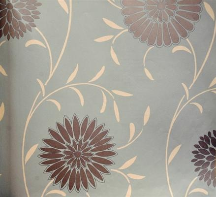 Floral wallpaper pattern, from Edmonton's Walls Alive