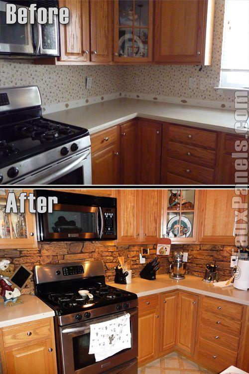 50 best step back cupboards images on pinterest for Cool kitchen backsplash ideas