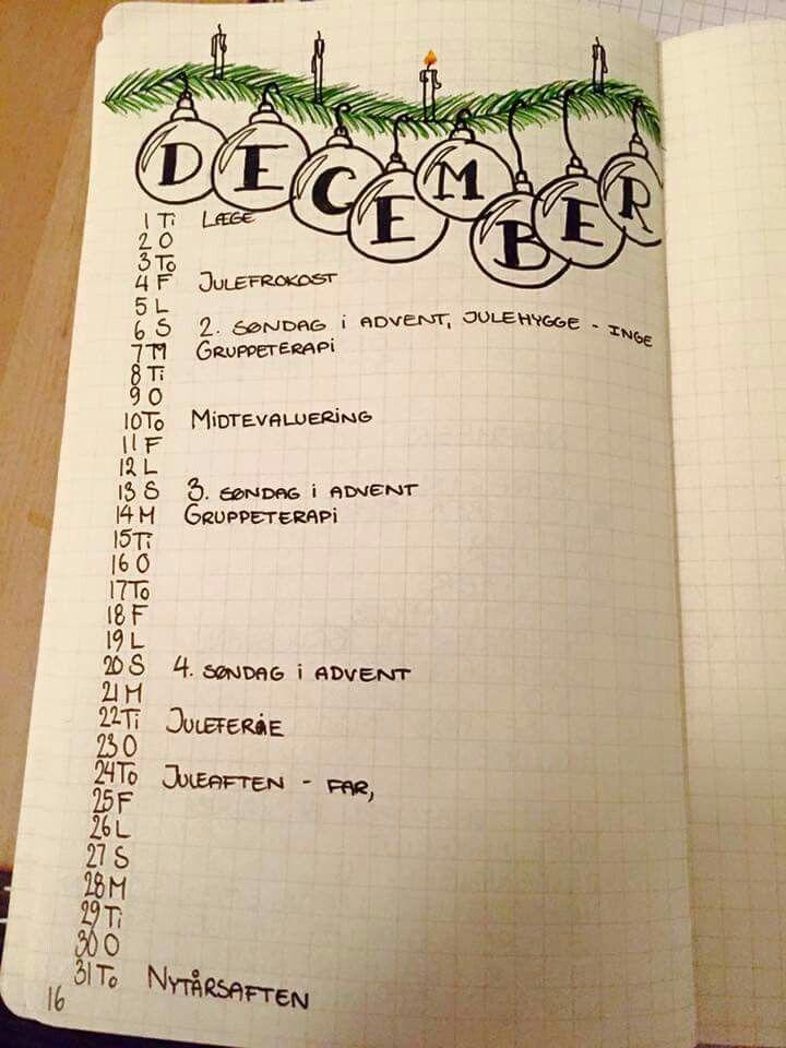December layout
