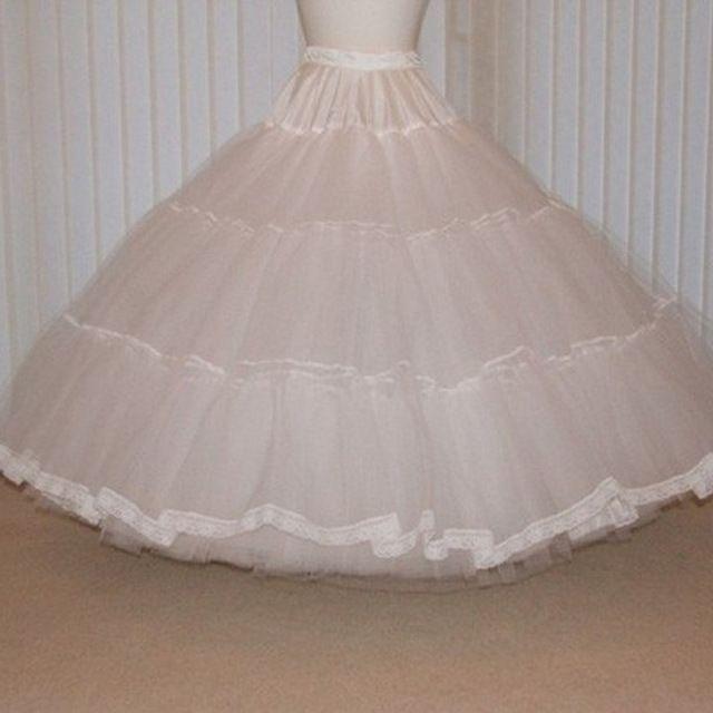Frankreich Stil Petticoat Elastische Taille Bodenlangen Lange Maxi Rock Super Große Und Puffy Tutu Petticoats Röcke 1950 S Stil