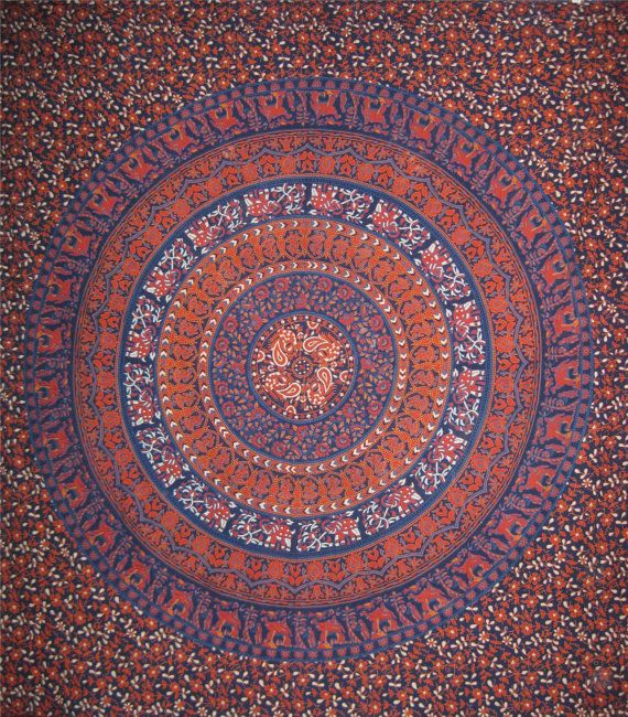 Indian Elephant  Mandala tapestry,Hippie Hippy Wall Hanging,Decorated throw,Curtain,Wall art,Handmade bed sheet,Bed Cover,Bed Spread