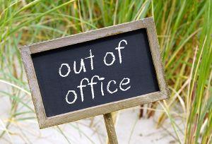 Abwesenheitsnotiz: So verabschieden sich Profis