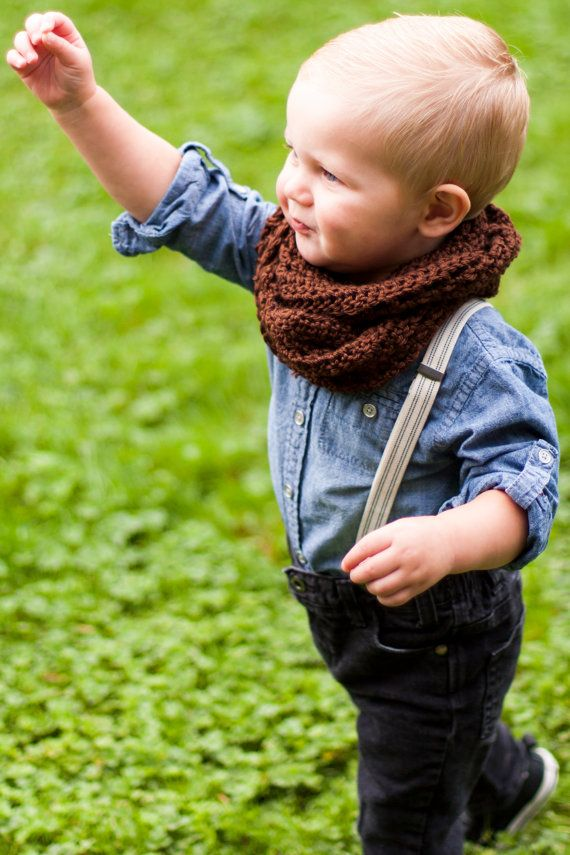Baby or Toddler INFINITY Circle Scarf  chocolate by sophiezhappy