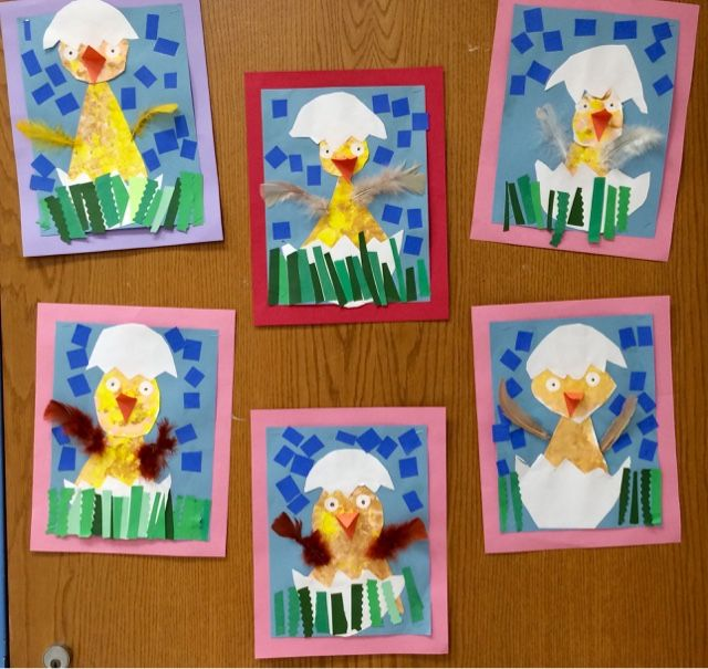 Chick-In-Egg Look what's hatching in the Art Room! Kindergarten students' created cute chicks to celebrate the spring season. ...