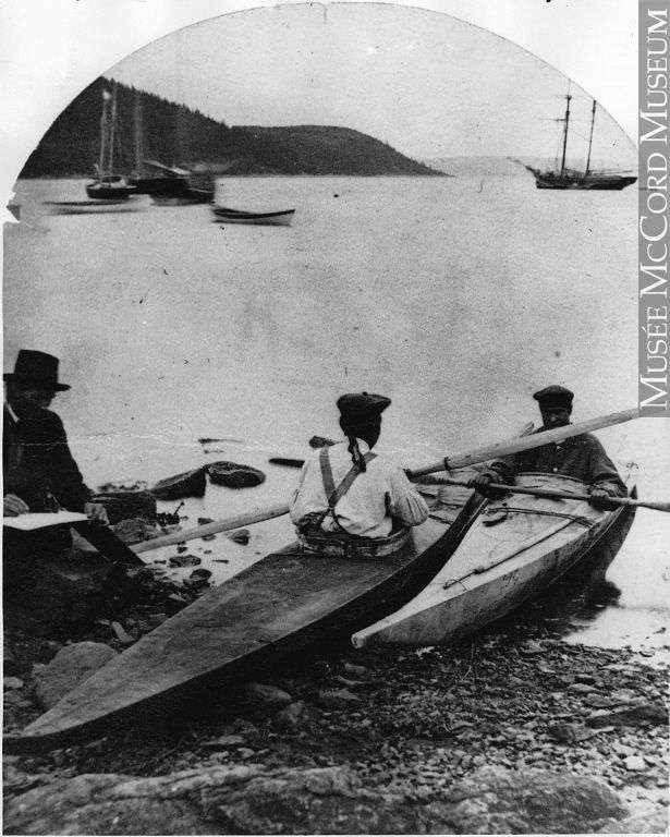 Kayaks at Rigolet, Labrador, NF, about 1880