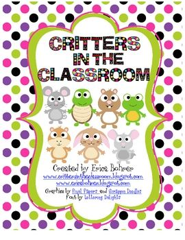 FREE from Erica Bohrer on TpT. This download is for a free mini-guide to keeping pets in the classroom.  I had gotten so many questions through my blog about my guinea pig, Molly...