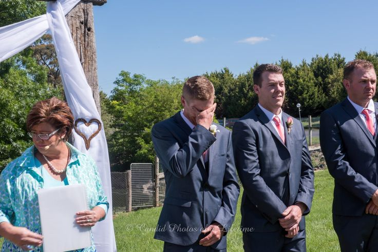 Wedding photographer, Candid Photos of a Lifetime  The groom just couldn't contain his emotion at seeing his beautiful bride