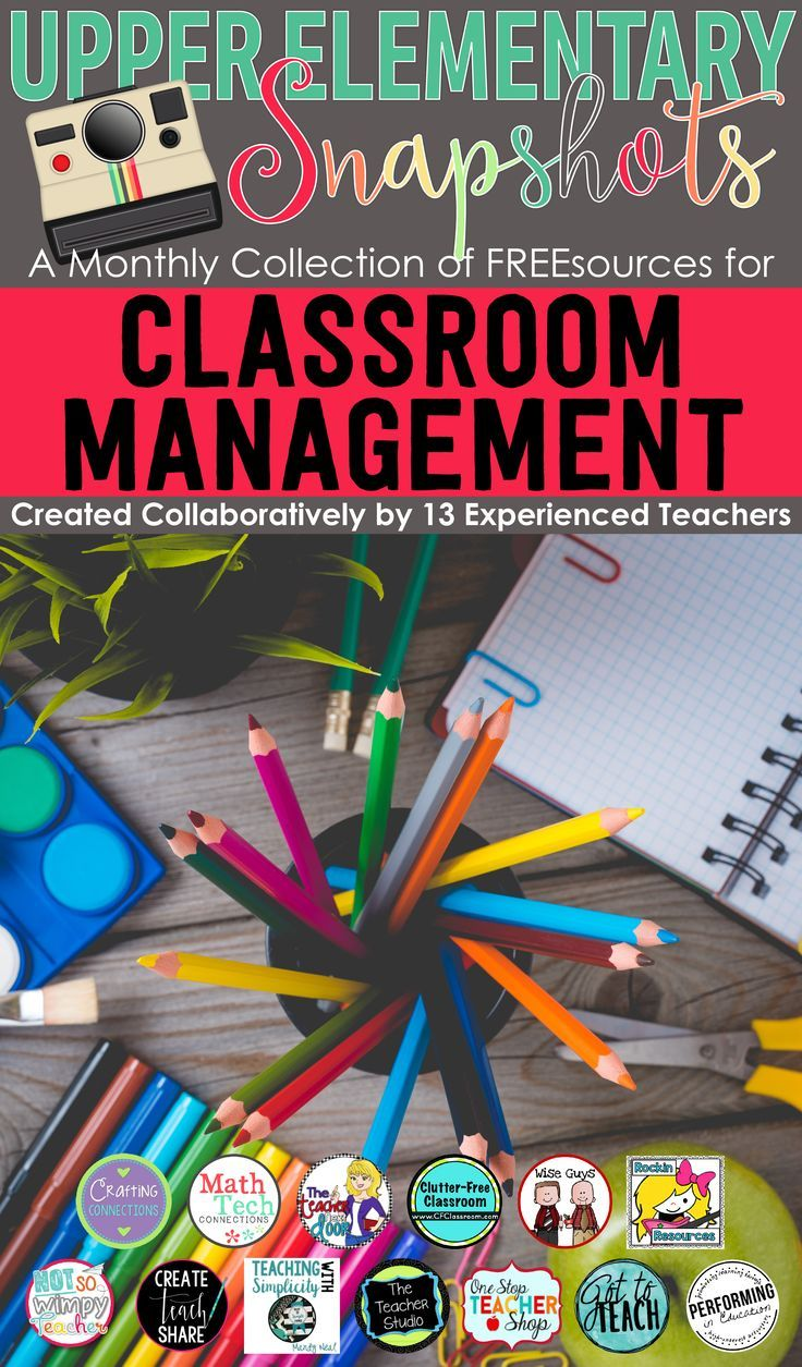 This Classroom Management ebook is loaded with tips, tricks and freebies, created by the teachers at Upper Elementary Snapshots. Perfect for any teacher focusing on classroom organization and management!