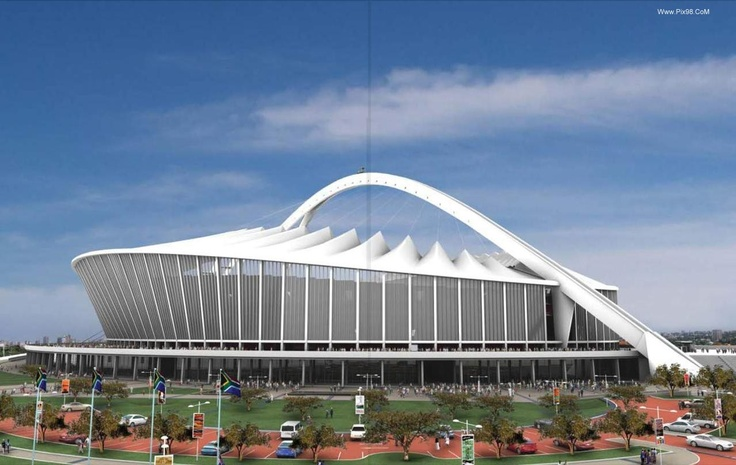 The Moses Mabhida Stadium is a stadium in Durban, South Africa. It is a multi-use stadium.It was one of the host stadiums for the 2010 FIFA World Cup. The stadium has a capacity of 62,760[1] during the World Cup and 54,000 afterwards. It includes an adjoining indoor arena, football museum, sports institute, and a transmodal transport station.