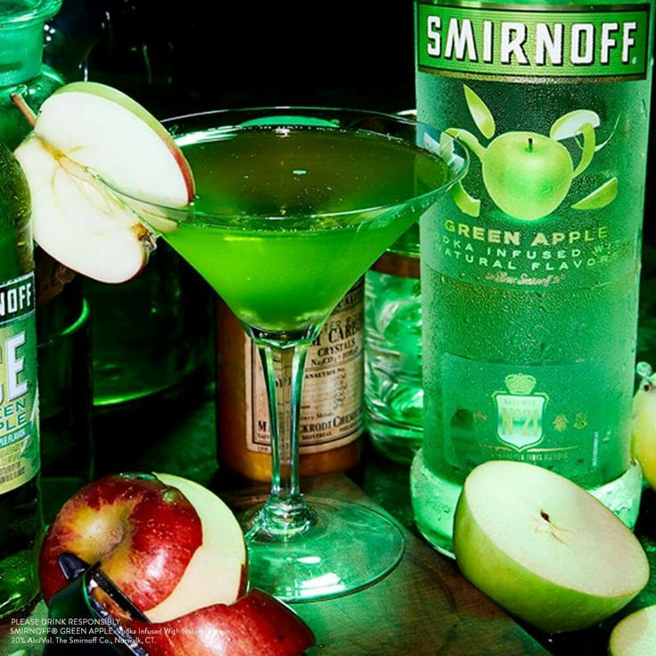Good #witches and bad witches can agree on one thing. Witchy Green Apple #Martinis are a must have this #Halloween.   #RECIPE: 1.5oz Smirnoff Green Apple + .5oz Sour Mix + 1oz Apple Juice + Apple Garnish. #EasyDrinks #Cocktails