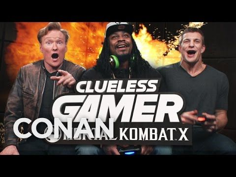 "Marshawn Lynch and Rob Gronkowski Play ""Mortal Kombat X"" With Conan O'Brien OMG THAT WAS SO STINKIN HYSTERICAL!!!!!!!!!!!  LOVED IT!!!  #gohawks, #marshawnlynch"