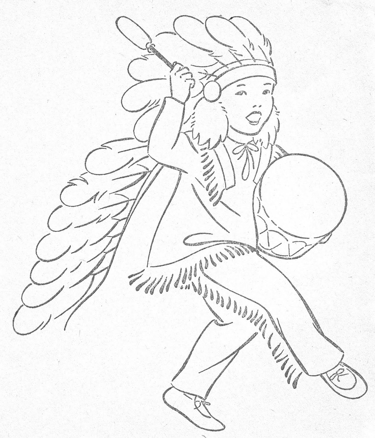 Little Indians To Color
