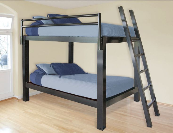 Contemporary $2095 00 Queen over Queen Bunk Bed Clear Satin Anodized 2 side rails 2 end rails Unique - Awesome solid bunk beds Contemporary