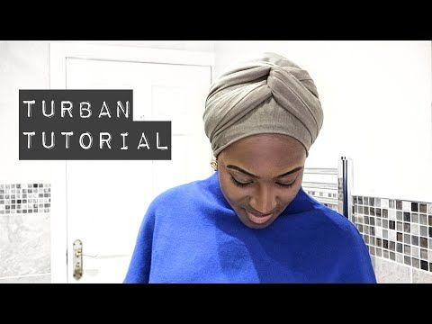 Easy Turban Tutorial, No Pins | 2017 - YouTube