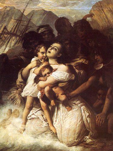 EL NAUFRAGIO DEL JOVEN DANIEL, 1859 Óleo sobre tela 176 x 130 cm Museo O'higginiano y de Bellas Artes de Talca, Talca, Chile