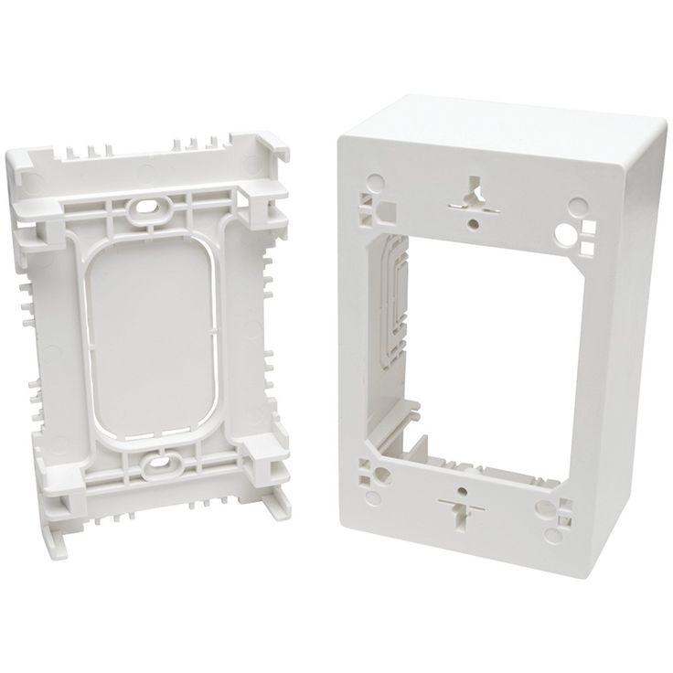 Tripp Lite Single-gang Surface-mount Junction Box Wall Plate