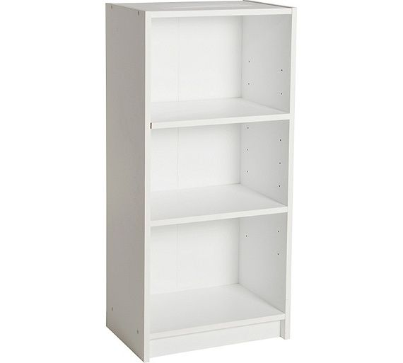 Buy HOME Maine Half Width Small Extra Deep Bookcase - White at Argos.co.uk,  visit Argos.co.uk to shop online for