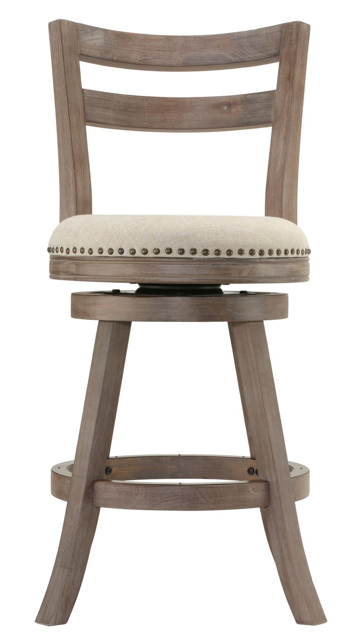 Cortesi Home Harper Counter Stool Swivel Bar Stool With