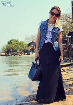 Virtuosas com Estilo: Como Usar: Colete Jeans...