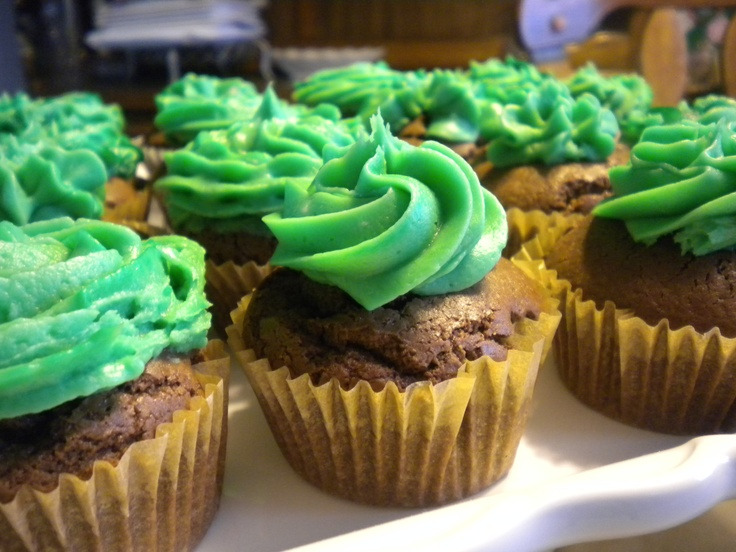 Chocolate and Bailey's cupcakes with Bailey's Buttercream frosting