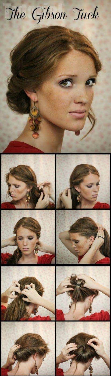 Hair Tutorials zu haben: Gibson Tuck Hair Tutorials