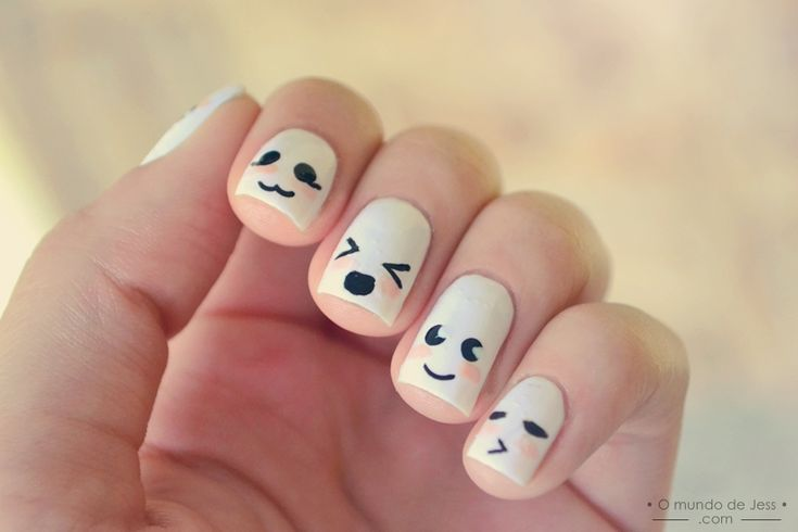 marshmallow kawaii nails