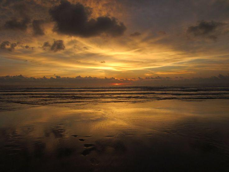 Sun Setting on the Beach near Seminyak, Bali.