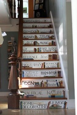 Could do this on stairs...but with cool stickers