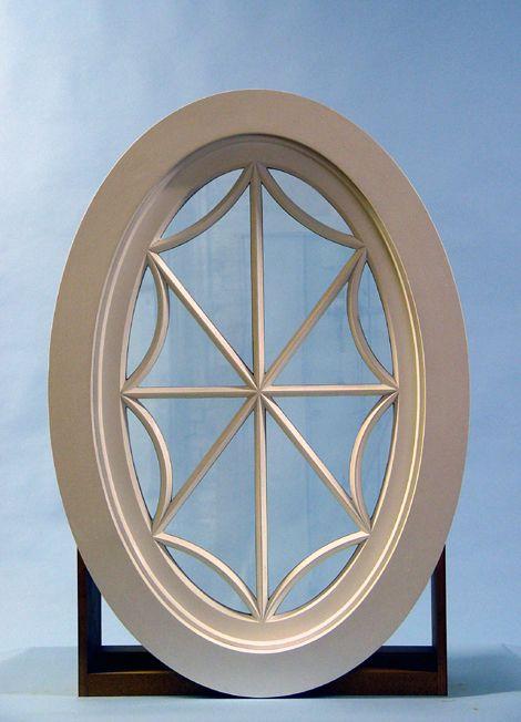 Custom Wood Fixed Oval Windows, RoundWindows, Ellipse ...