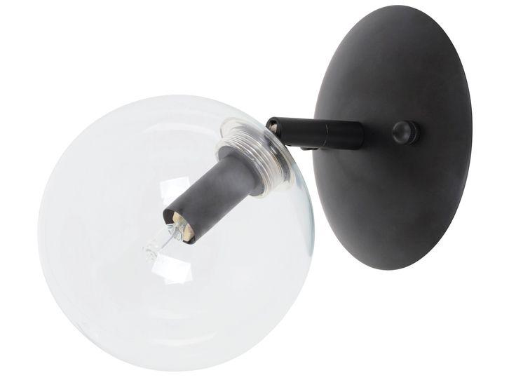 Aksel 1 Light Wall Bracket in Black/Clear Brass/Clear 89.95 Becon