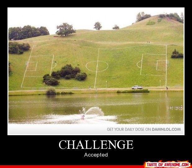 This looks kinda fun to play soccer on.. But could you even imagine