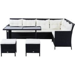 8-Sitzer Loungeset Aliki aus Polyrattan mit Polsterung von Wayfair.de   – Products