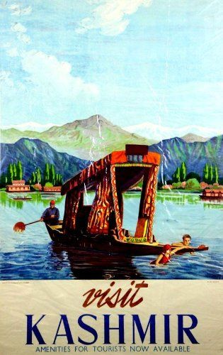 Fantastic A4 Glossy Print - 'Visit Kashmir' (2) - Taken From A Rare Vintage Travel Poster (Vintage Travel / Transport Posters) by Unknown http://www.amazon.co.uk/dp/B006WZKHLE/ref=cm_sw_r_pi_dp_yb1nvb1MJ9M7E