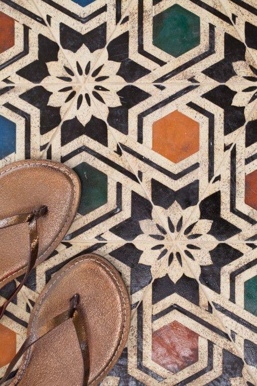 Patterson Encaustic tiles, so durable & so beautiful.