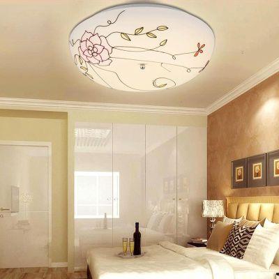 Pastoral Mediterranean Painted Glass Kid's Room Ceiling Lamp Cute Bedroom Ceiling Lamp Bathroom Ceiling Lamp