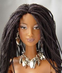 somebody has a lot of patience and I love it: Locs, Chocolates Barbie, Black Barbie, Hair Dolls, Natural Hair, Dreads Locks, Wigs, Barbie Dolls, Black Dolls