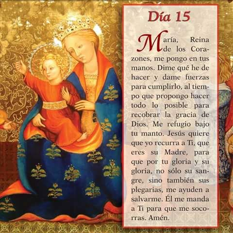 Mayo 15 Mes de nuestra Santisima Virgen Maria