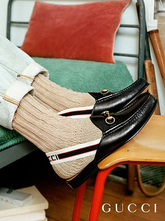 8adedfda3 Horsebit Gucci stripe slingback slipper in 2019 | Me To Buy | Gucci, Gucci  horsebit loafers, Loafers