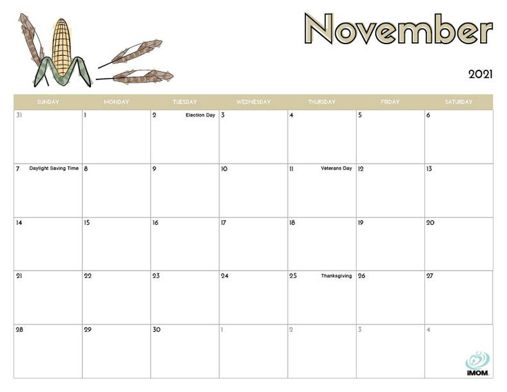 2020 and 2021 Printable Calendars for Kids - iMom in 2020 ...