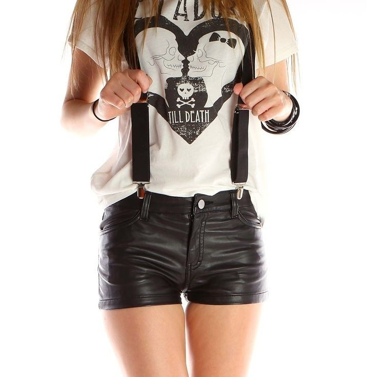 ABBEY DAWN LEATHER LOOK HOT PANTS BY AVRIL LAVIGNE