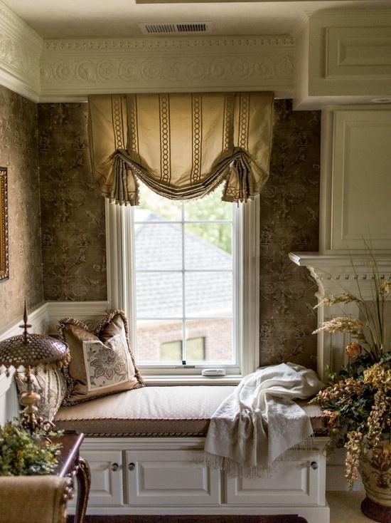 Beautiful master bedroom window treatments!