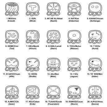 20 Nahuales Maya Kalender