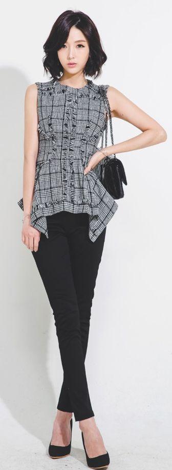 Luxe Asian Women Design Korean Model Fashion Style Dress...