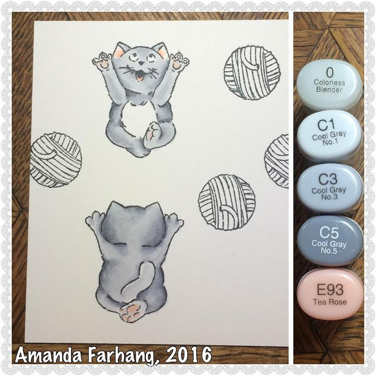 Art Impressions Rubber Stamps: Ai Mini Spinners: 4731 – Mini Cat Spinner Set ... handmade card.
