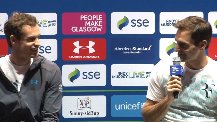 nice Andy Murray & Roger Federer Ahead Of Their Charity Tennis Match In Glasgow