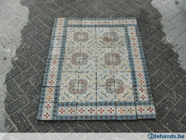 Blauwe Tegels Tuin: Portugese tegels blauw of zwart vlekvrij retro ...