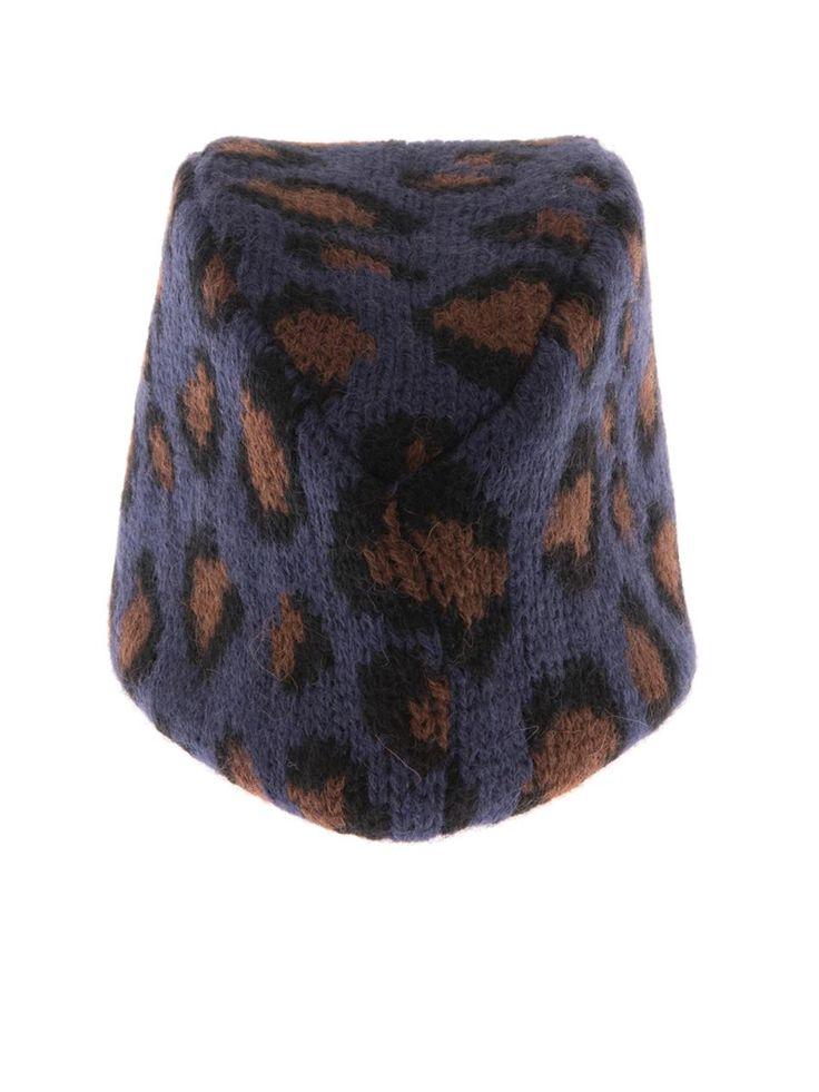 Tak.Ori Gstaad Piccolo leopard knit fez hat