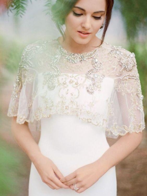 Striking silk white wedding dress;  Featured Photographer: Jose Villa