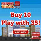 Deposit £10 and play with £35, get £25 absolutely FREE at #RedBusBingo ! #bingo   #promotions