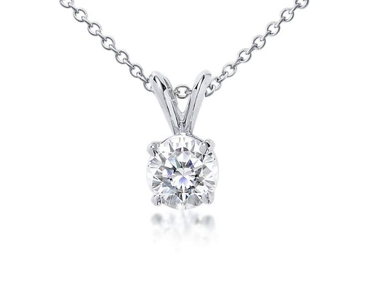 necklaces ct diamond gold v p pendant in solitaire